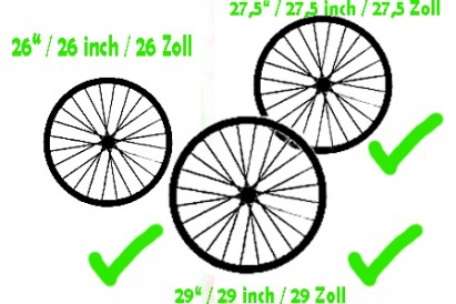 "NEW for 2014: Wheels including 29"" dimension are allowed in the youngsters categories!"