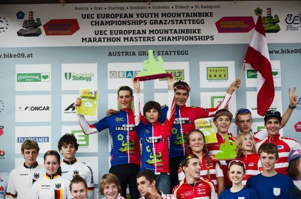 <br />Die Austria MTB Youngsters U17 gewinnen den Teambewerb bei der UEC Jugend EM 2011!<br />